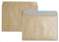 Крафт конверт С65 - 114х229 мм, с отрывной лентой