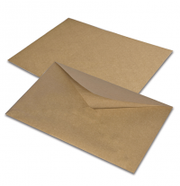 Крафт конверт С6 - 114х162 мм, с водяным клеем